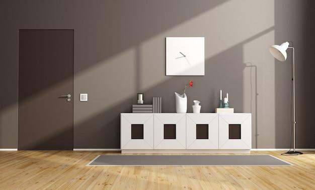 Brązowy nowoczesny salon