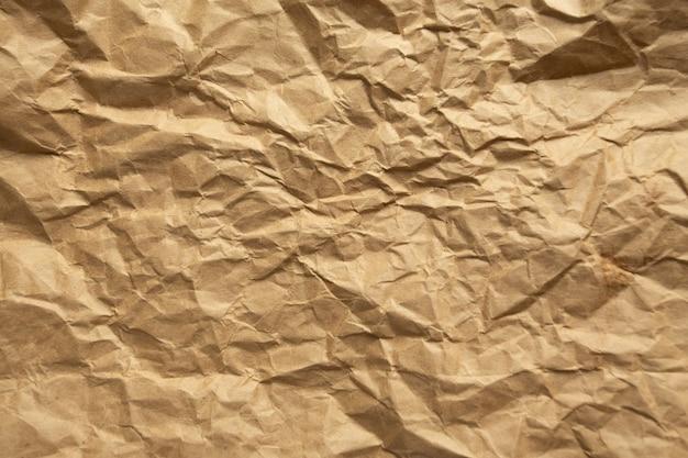 Brązowy papier zmarszczek.
