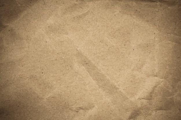 Brązowy papier zmięty tekstura tło.