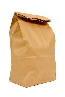 Brązowy papierowa torba obiad