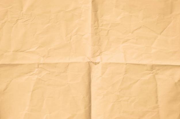 Brązowy pomarszczony papier tekstura tło