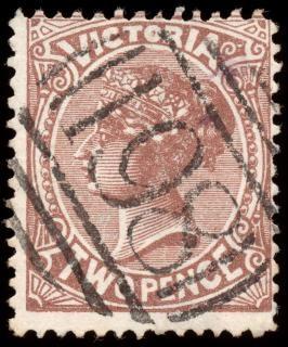 Brązowy queen victoria znaczek