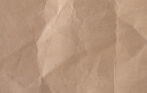 Brązowy zmięty papier tekstury