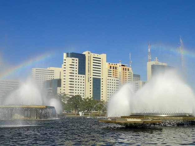 Brazylia brasilia woda niebo fontanny chmury jezioro