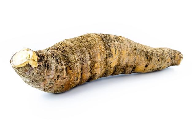 Brazylijski maniok, na białym tle