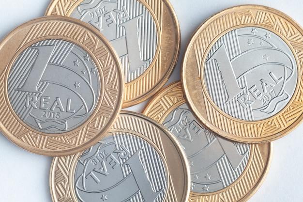 """Brazylijskie nowe monety """"1 real"""""""