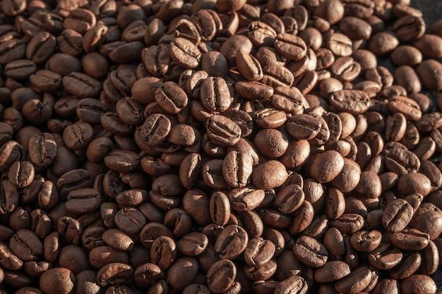 Brazylijskie ziarna kawy w makro