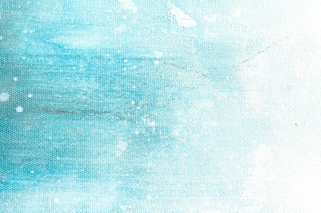 Brezentowy tekstury tło z abstrakcjonistycznym błękitnym kolorowym sztuka obrazem.