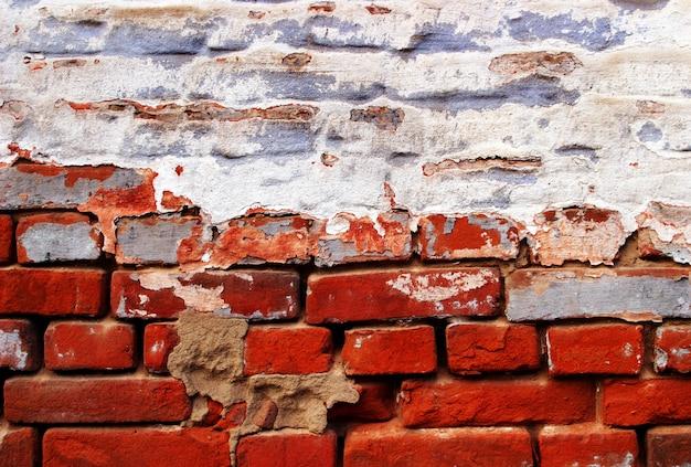 Brickwall czerwony grunge