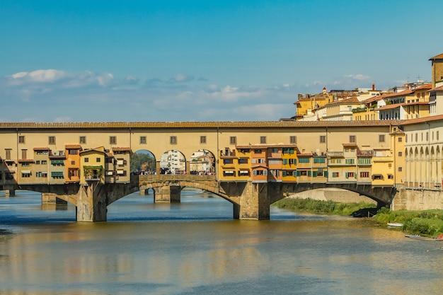Bridżowy ponte vecchio w florencja, włochy