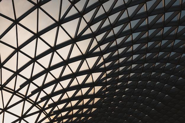 British museum wieczorem w dzielnicy bloomsbury w londynie w wielkiej brytanii