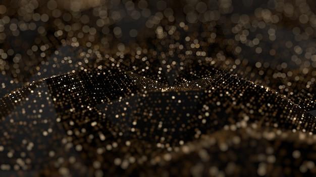 Brokat streszczenie tło. złote iskry i pasemka. ilustracja, renderowanie 3d.