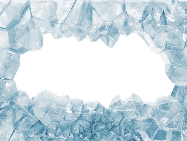 Broken ice wall z dużą dziurą
