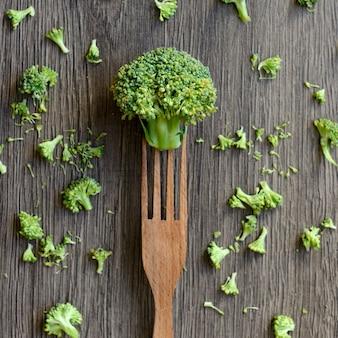 Brokuły na widelcu