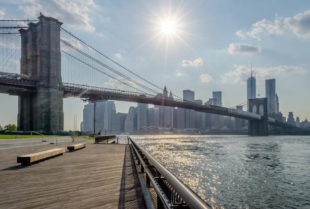 Brooklyn bridge, nowy jork, usa