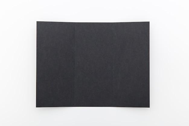 Broszura składana na czarno