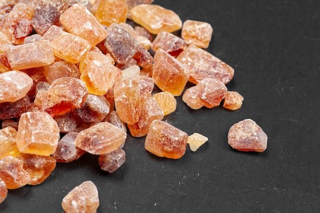 Brown cukieru skały organicznie krystaliczny zakończenie up