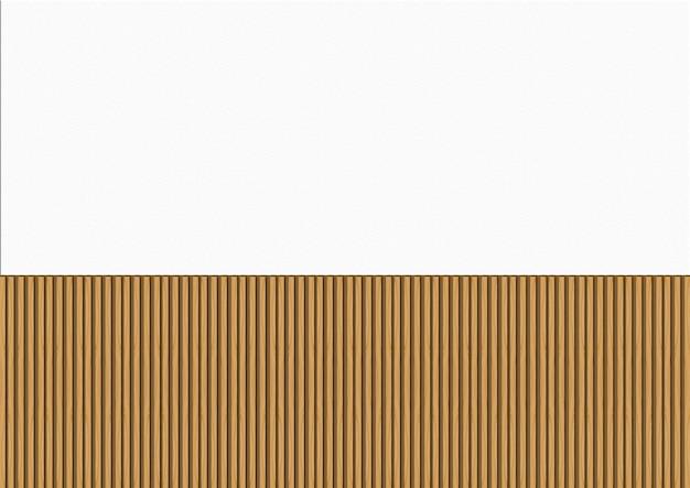 Brown drewna panel wiosłuje dekorować na whtie cementuje ścianę.