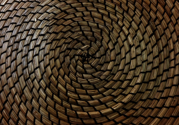Brown handicraft weave texture powierzchnia wikliny dla materiału mebli.