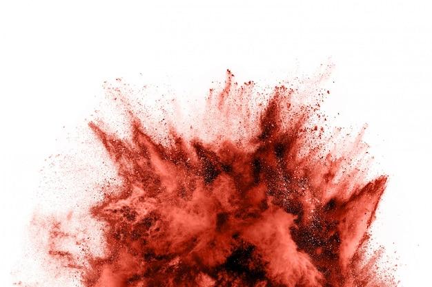Brown koloru proszku wybuch na białym tle
