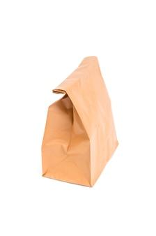 Brown papierowa torba odizolowywająca na bielu