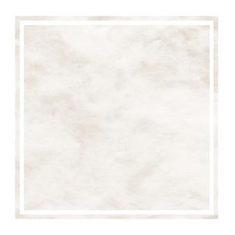 Brown ręka rysująca akwareli prostokątna ramowa tło tekstura z plamami