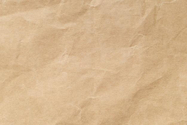 Brown zmięta papierowa tekstura dla tła.
