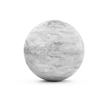 Brudna betonowa kula