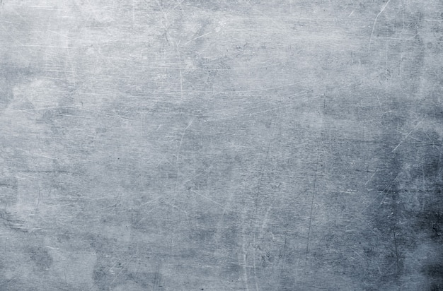 Brudna tekstura blachy, wzór powierzchni srebrnego aluminium lub stali