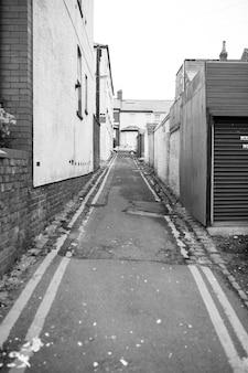 Brudna ulica w blackpool. anglia
