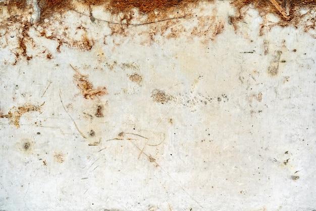 Brudny stary ośniedziały grunge białego metalu tło