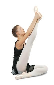 Brunetka dziewczyna baleriny