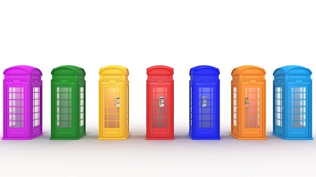 Brytyjska budka telefoniczna w londynie
