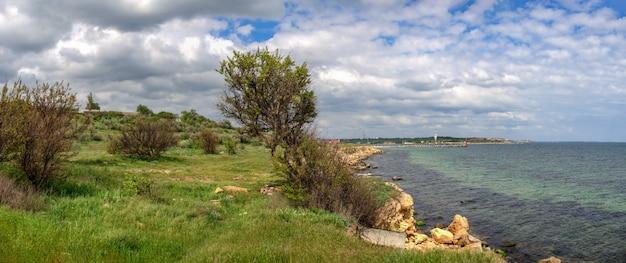 Brzeg morza czarnego w regionie odessy na ukrainie