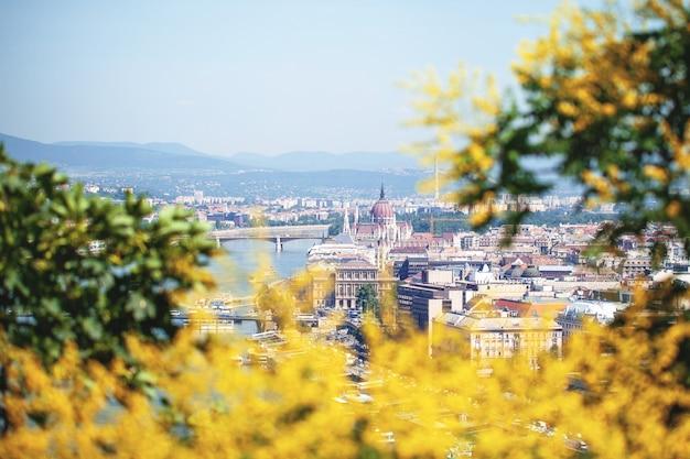 Budapeszt. węgry. widok na miasto nad dunajem