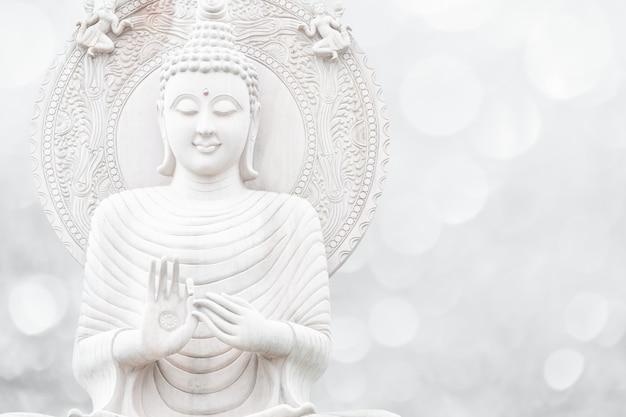 Buddha religion white tone