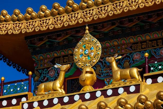 Buddyjski koło prawa o klasztorze, indie