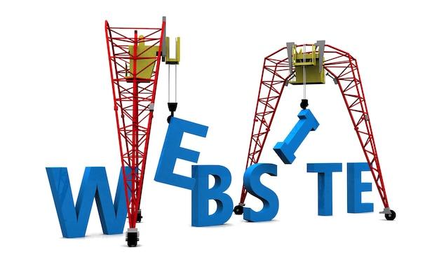 Budowa żurawia budynku tekst strony internetowej