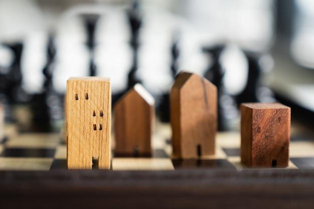 Budowanie i modele domów w grze w szachy