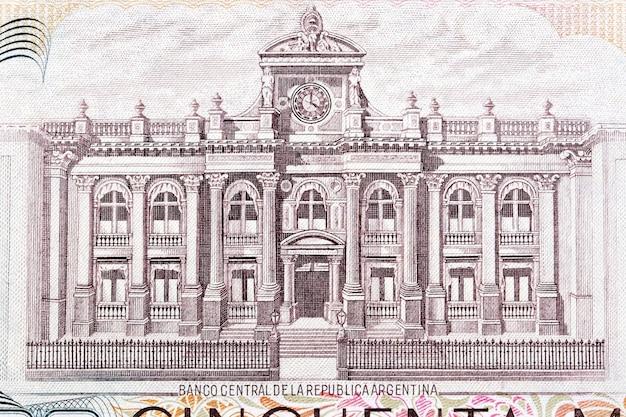 Budynek banku centralnego z argentyńskich pieniędzy