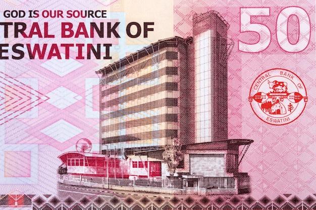 Budynek banku centralnego z pieniędzy suazi