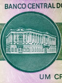 Budynek Banku Centralnego Ze Starych Brazylijskich Pieniędzy Premium Zdjęcia
