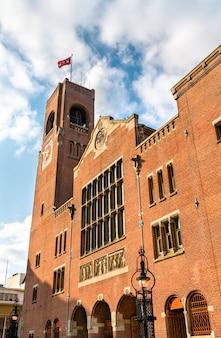 Budynek beurs van berlage w amsterdamie w holandii