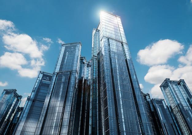 Budynek biurowy renderowania 3d