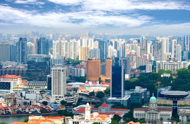 Budynek biznesowego miasta singapur