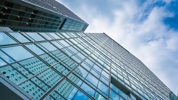 Budynek drapacza chmur w hongkongu