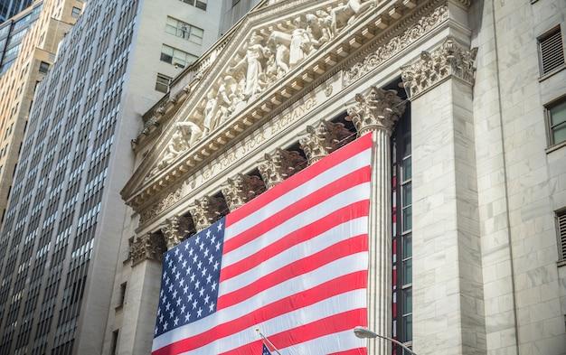 Budynek giełdy papierów wartościowych w nowym jorku