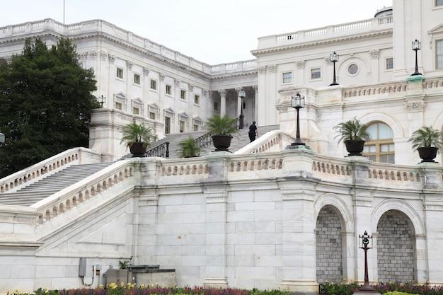 Budynek kapitolu stanów zjednoczonych w waszyngtonie, usa. kongres stanów zjednoczonych