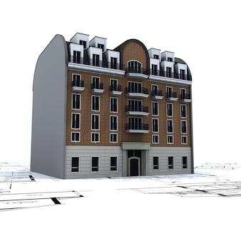 Budynek mieszkalny na podstawie planów architekta