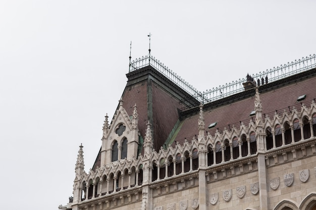Budynek parlamentu węgierskiego w budapeszcie.